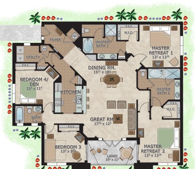 4 Bedroom Suites In Orlando The Berkley Orlando