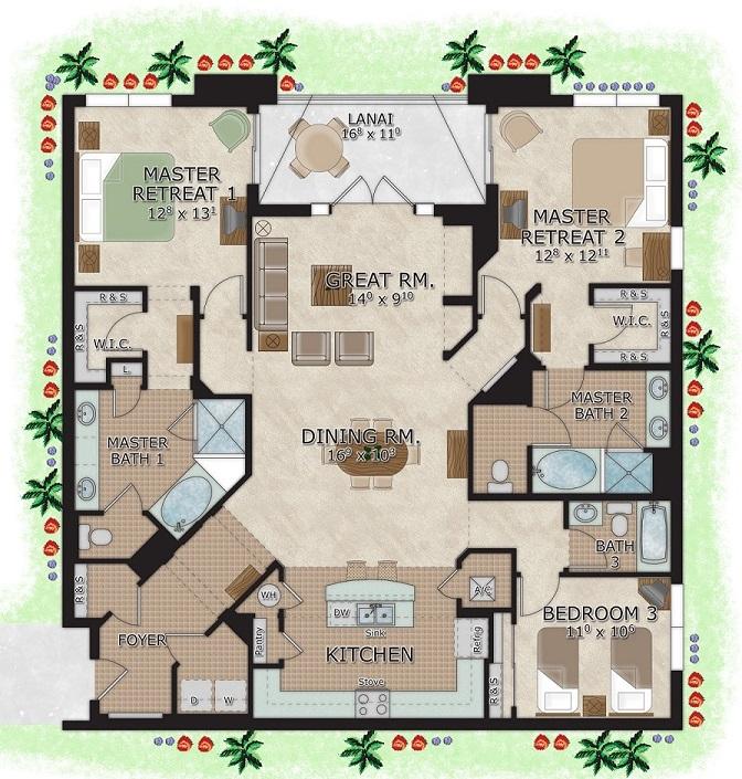 Surprising 3 Bedroom Suites In Orlando The Berkley Orlando Download Free Architecture Designs Xaembritishbridgeorg